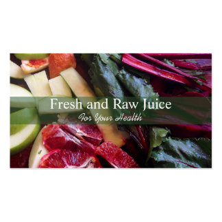 Juicing Nutritionist Food and Diet Health Green Business Cards