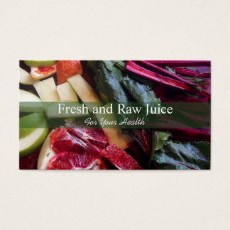 Juicing Nutritionist Food and Diet Health Green Business Card