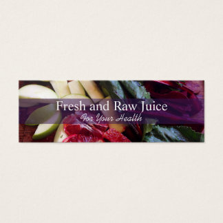 Juicing Nutritionist Food and Diet Health Mini Business Card