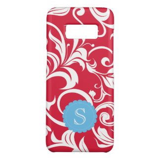 Juicy Apple Red Wallpaper Swirl Monogram Case-Mate Samsung Galaxy S8 Case