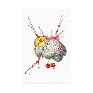 Juicy brain canvas print