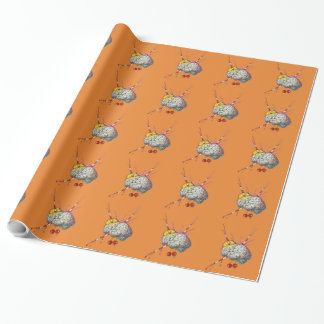 Juicy brain wrapping paper
