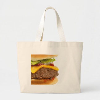 Juicy Cheeseburger Canvas Bags