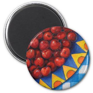 Juicy Cherries Refrigerator Magnets