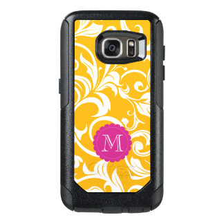 Juicy Citrus Orange Swirl Monogram OtterBox Samsung Galaxy S7 Case