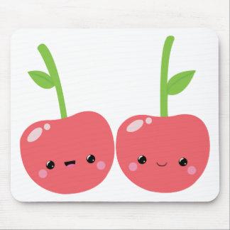 Juicy Cute Kawaii Cherries Mouse Pad