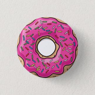 Juicy Delicious Pink Sprinkled Donut 3 Cm Round Badge