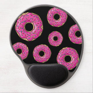 Juicy Delicious Pink Sprinkled Donut Gel Mouse Pad