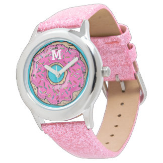 Juicy Delicious Pink Sprinkled Donut Watch