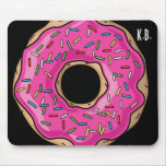 Juicy Delicious Pink Sprinkled Doughnut Mouse Pad