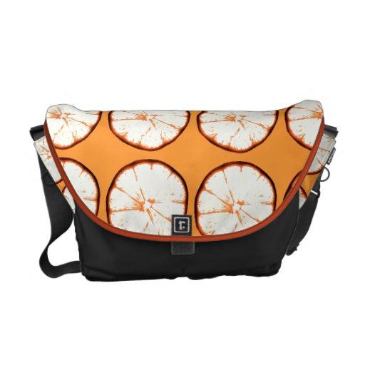 juicy funky orange slice commuter bag