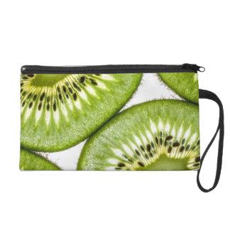 Juicy kiwi slices wristlet purse