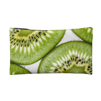 Juicy kiwi slices cosmetic bag