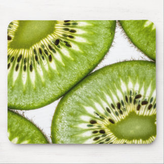 Juicy kiwi slices mouse pads