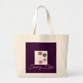 Juicy Lips Canvas Bags