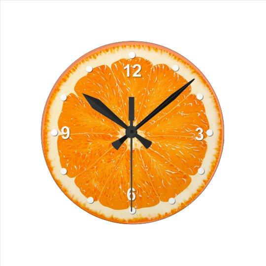 Juicy Orange Kitchen Wall Clock