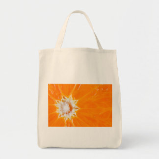 Juicy orange slice grocery tote bag