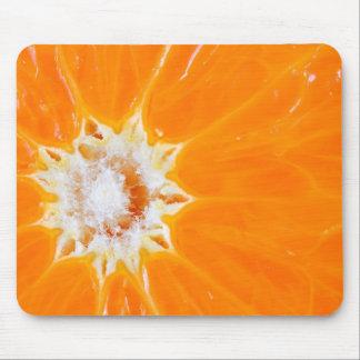 Juicy orange slice mouse mat