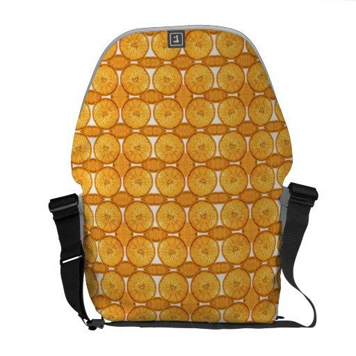 Juicy orange slice pattern courier bag