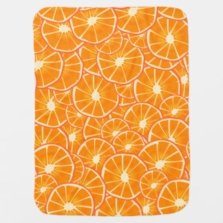 Juicy Orange Slices Baby Blanket
