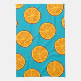 Juicy Orange Slices & Blue Tea Towel