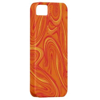 Juicy orange trendy marbled pattern case for the iPhone 5