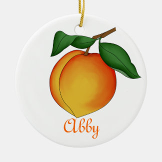 Juicy Peach Ornament