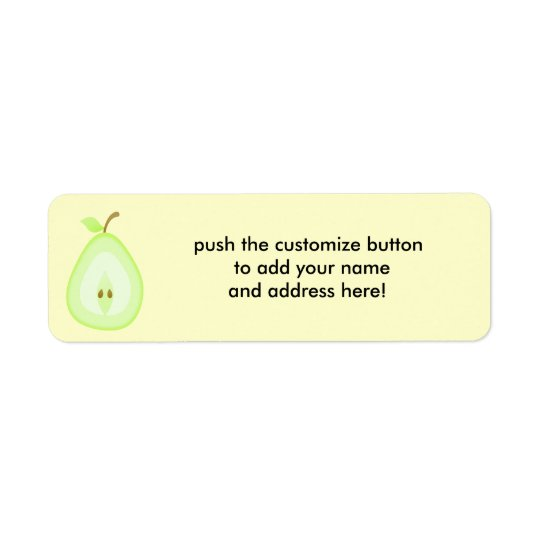 Juicy pear - address labels