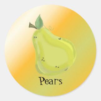 Juicy Pear Classic Round Sticker
