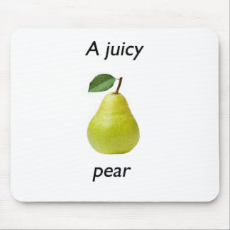juicy pear mouse pad