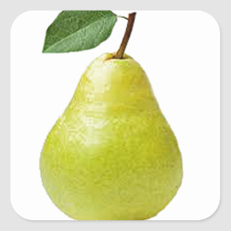 juicy pear square sticker