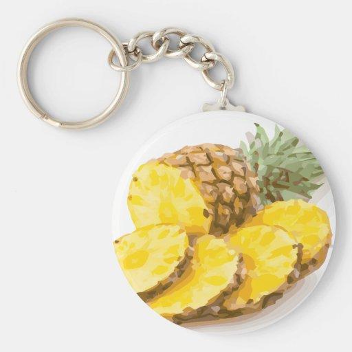 Juicy Pineapple Slices Keychain