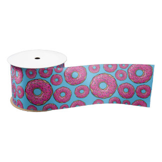 Juicy Pink Doughnuts Satin Ribbon