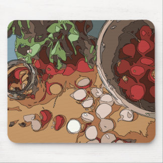 Juicy Radishes and Grilled Potato Mouse Pad
