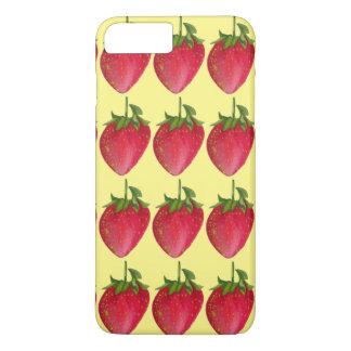 Juicy Strawberry fruit watercolour macro art iPhone 7 Plus Case