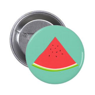 Juicy Watermelon Slice 6 Cm Round Badge