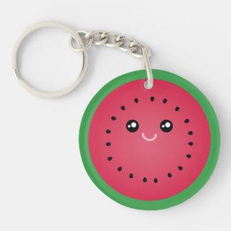 Juicy Watermelon Slice Cute Kawaii Funny Foodie Key Ring