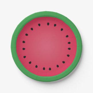 Juicy Watermelon Slice Funny Foodie Paper Plate