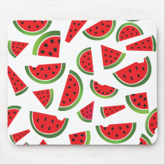 Juicy Watermelon Slices Fruit Pattern Mouse Mat