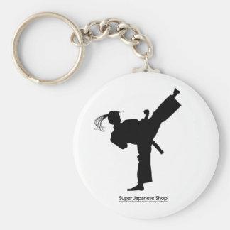 Jujutsu Girl and Chart Basic Round Button Key Ring