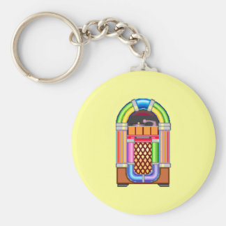 Juke Box Basic Round Button Key Ring