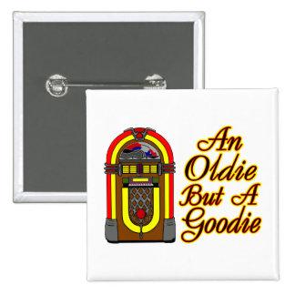 Jukebox An Oldie But A Goodie 15 Cm Square Badge