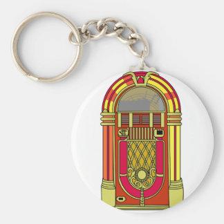 Jukebox Basic Round Button Key Ring