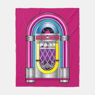 Jukebox in Colors Fleece Blanket