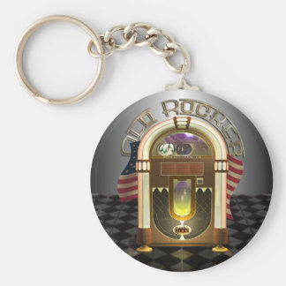 Jukebox Old Rocker Keychain