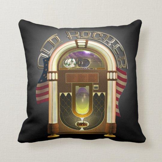 Jukebox Old Rocker Throw Pillow