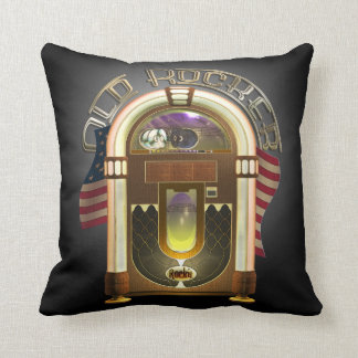 Jukebox Old Rocker Throw Pillow