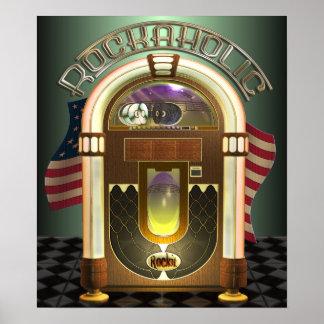 Jukebox Rockaholic Poster