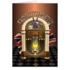 Jukebox Rockaholic UK Customisable Greetings Card