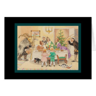 Jul Goat at the Christmas Table Card